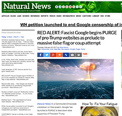 Natural News Banned on Google