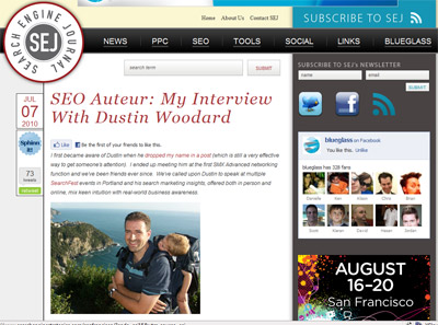 Dustin Woodard Search Engine Journal Interview